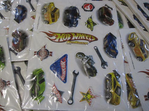 Mattel HotWheels 3D Stickers